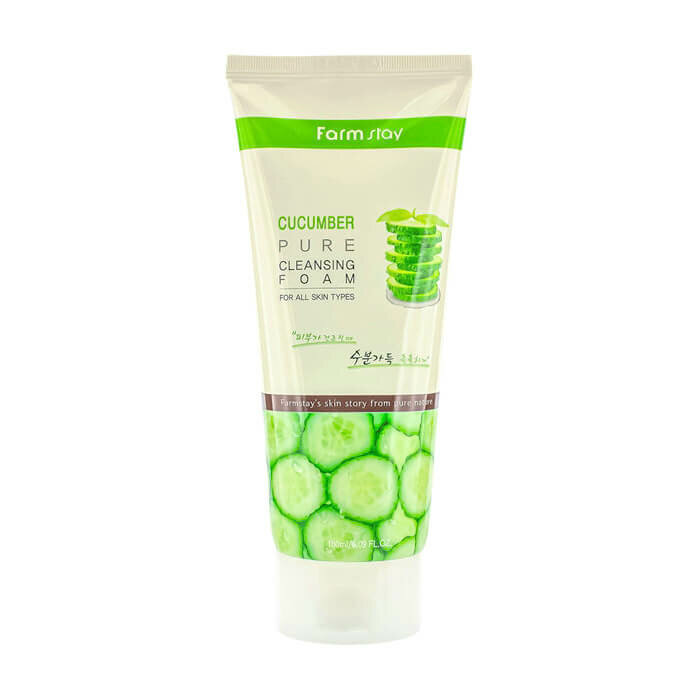 Пенка для умывания Farm Stay Cucumber Pure Cleansing Foam, 180 мл. фото 1 — BascoMarket