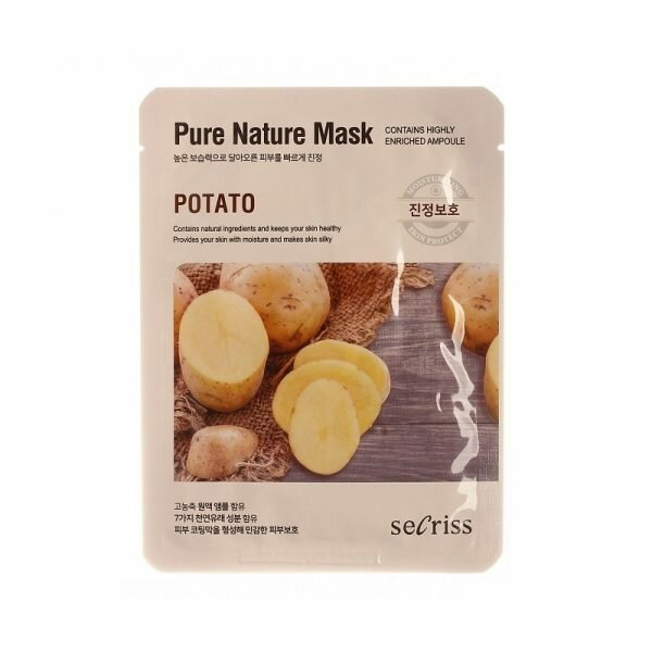 Маска для лица Secriss Sheet Mask - Potato, 25 мл. фото 1 — BascoMarket