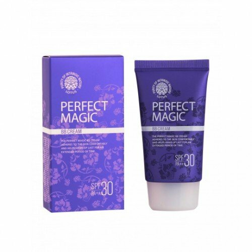 Матирующий ВВ крем Welcos Lotus Perfect Magic BB Cream, 50 мл. фото 1 — BascoMarket