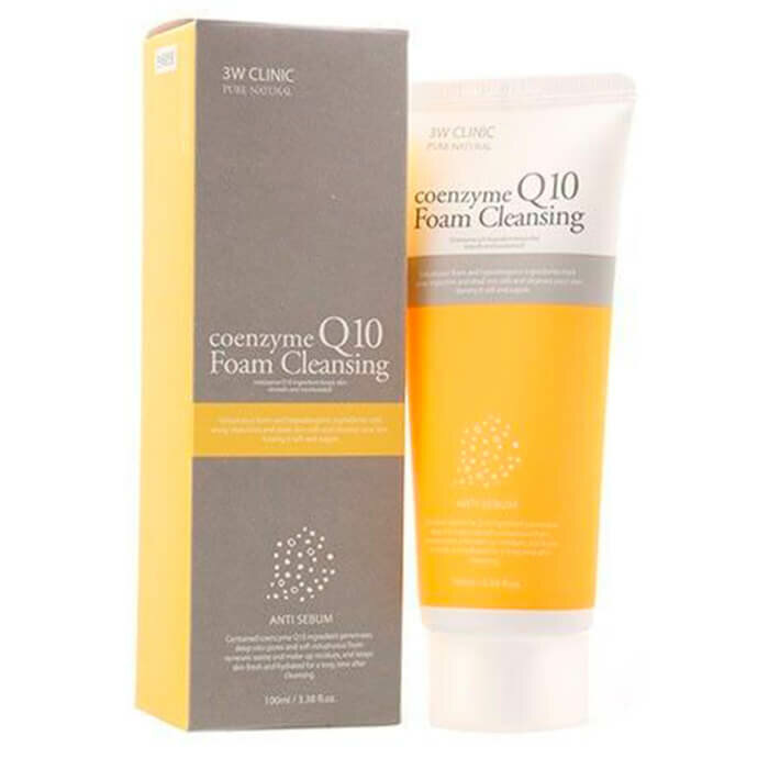 Пенка для умывания 3W Clinic Coenzyme Q10 Foam Cleansing, 100 мл. фото 1 — BascoMarket